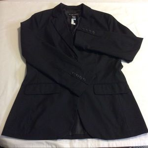 NEW YORK & COMPANY BLACK STRETCH BLAZER JACKET M